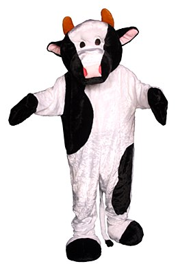 Cow Plush Mascot Adult Costume