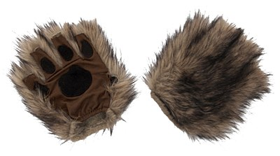 Squirrel Brown Paws Fingerless Gloves