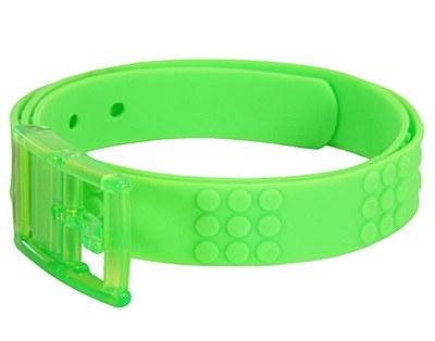 Adjustable Candy Rubber Neon Green Belt