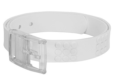 Adjustable Candy Rubber White Belt