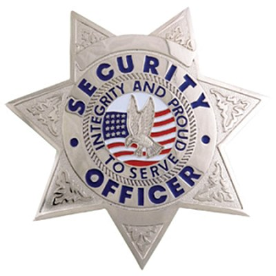 Star Metal Security Badge - Silver