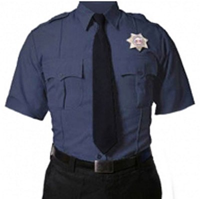 Short Sleeve Navy Blue Uniform Shirt
