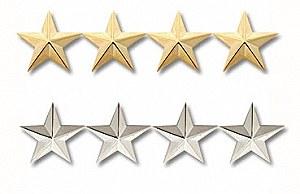 Four Star General Insignia Pin