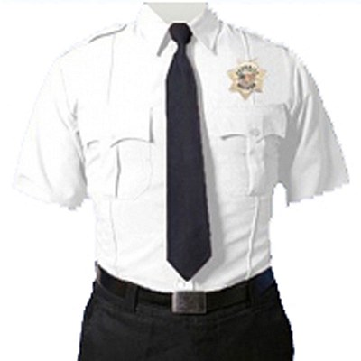 Short Sleeve White Uniform Shirt