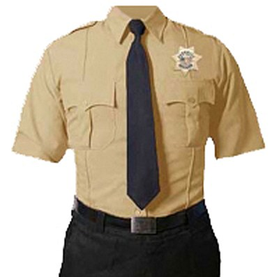 Short Sleeve Tan Uniform Shirt