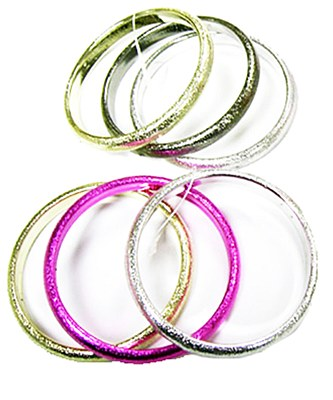 70's Metallic Bangle Bracelet Set