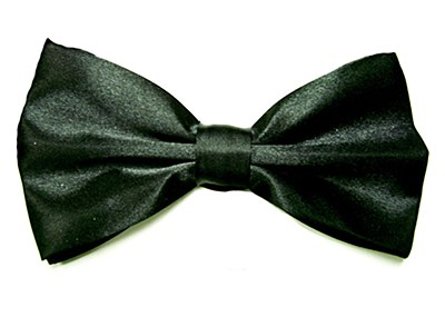 Black Bow Tie Deluxe Quality