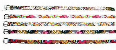 Hippie Print Men's Belt