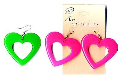80's Heart Shaped Earrings