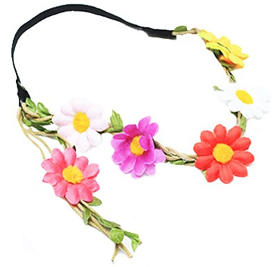 60's Flower Headband / Medieval Flower Crown