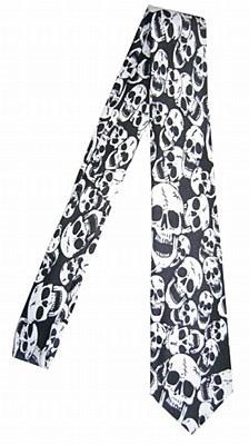 Skull Print Necktie