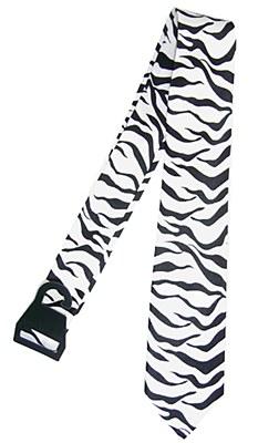 Zebra Print Necktie