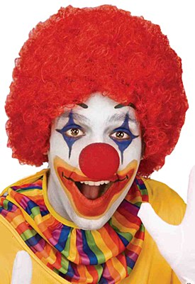 Afro Solid Red Clown Wig