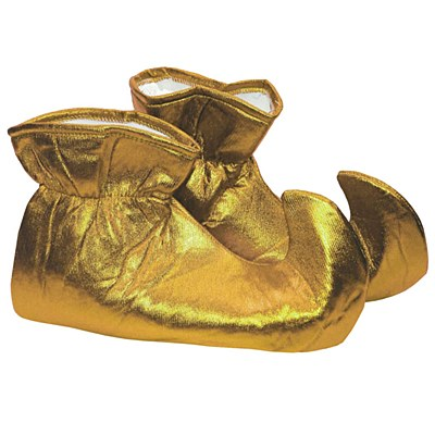 Jester / Elf Cloth Gold Shoes