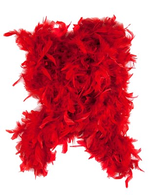 "72"" Red Feather Boa"