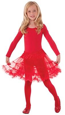Layered Child Petticoat - Red