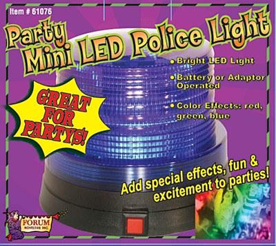 Mini Party LED Blue Police Light