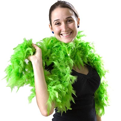 "72"" Lime Green Feather Boa"