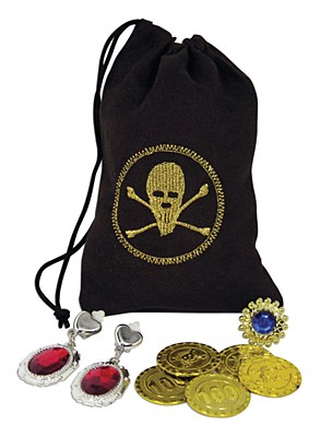 Pirate Pouch Coins & Jewelry Set