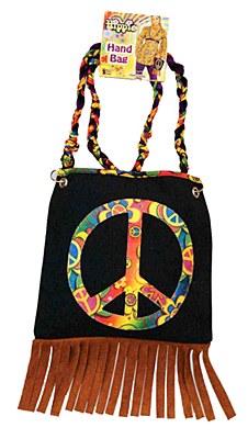 Hippie Peace Sign Fringe Purse
