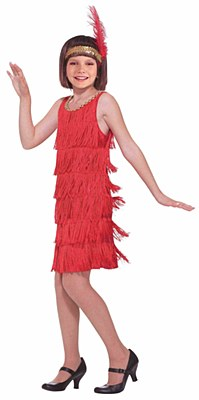 Red Flapper Child Costume