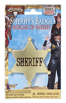 Sheriff Star Metal Badge