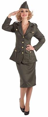 WW II Army Gal Adult Costume