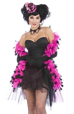 "72"" Pink And Black Feather Boa"