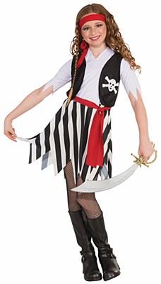 Buccaneer Pirate Girl Child Costume