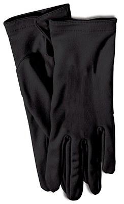 """Short Nylon 9"""" Adult Black Gloves"""