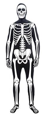 2nd Skin Skeleton Morphsuit Teen Costume