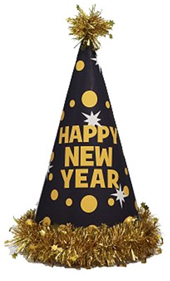 Happy New Year Cone Party Hat