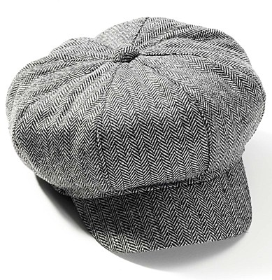 Newsboy Herringbone Tweed Hat