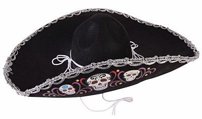 Day of The Dead Sombrero Hat