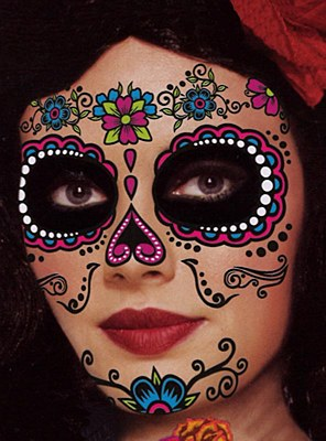 Sugar Skull Face Tattoo Kit - Female