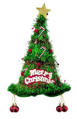 Christmas Tree Tinsel Hat