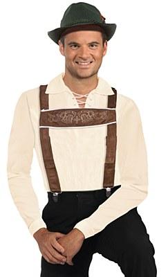 Bavarian Man Lederhosen Suspenders
