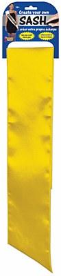 Yellow Blank Solid Color Sash