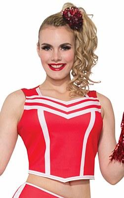 Cheerleader Red Cropped Tank Top Shirt