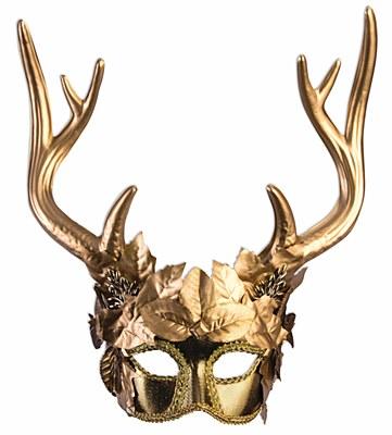 Golden Faun Mardi Gras Mask