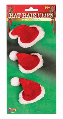 Santa Mini Hair Clips