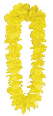 Classic Flower Petal Lei - Yellow