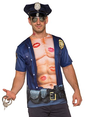 Hot Cop Men's Adult Police Shirt