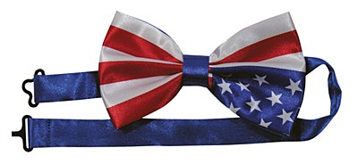 Patriotic Stars & Stripes Bow Tie