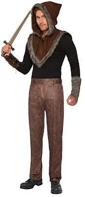 Men's Brown Faux Leather Pants