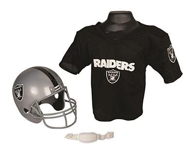 NFL Oakland Raiders Child Jersey And Helmet Set