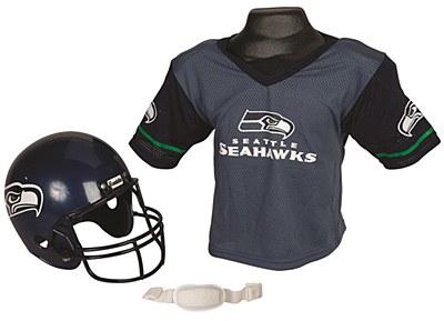 NFL Seattle Seahawks Child Jersey And Helmet Set