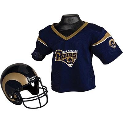 NFL LA Rams Child Jersey And Helmet Set