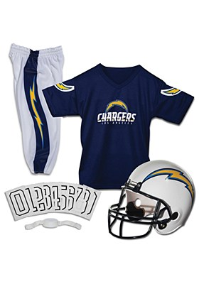 NFL Los Angels Charges Child Jersey And Helmet Set
