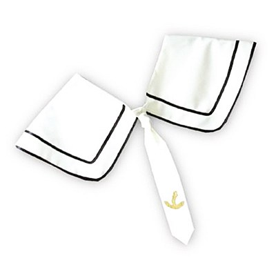 Sailor Collar With Tie Neckpiece
